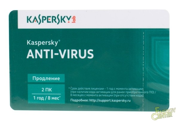 Продление Kaspersky Anti-Virus 2016 Russian Edition. 2-Desktop 1 year Renew ...